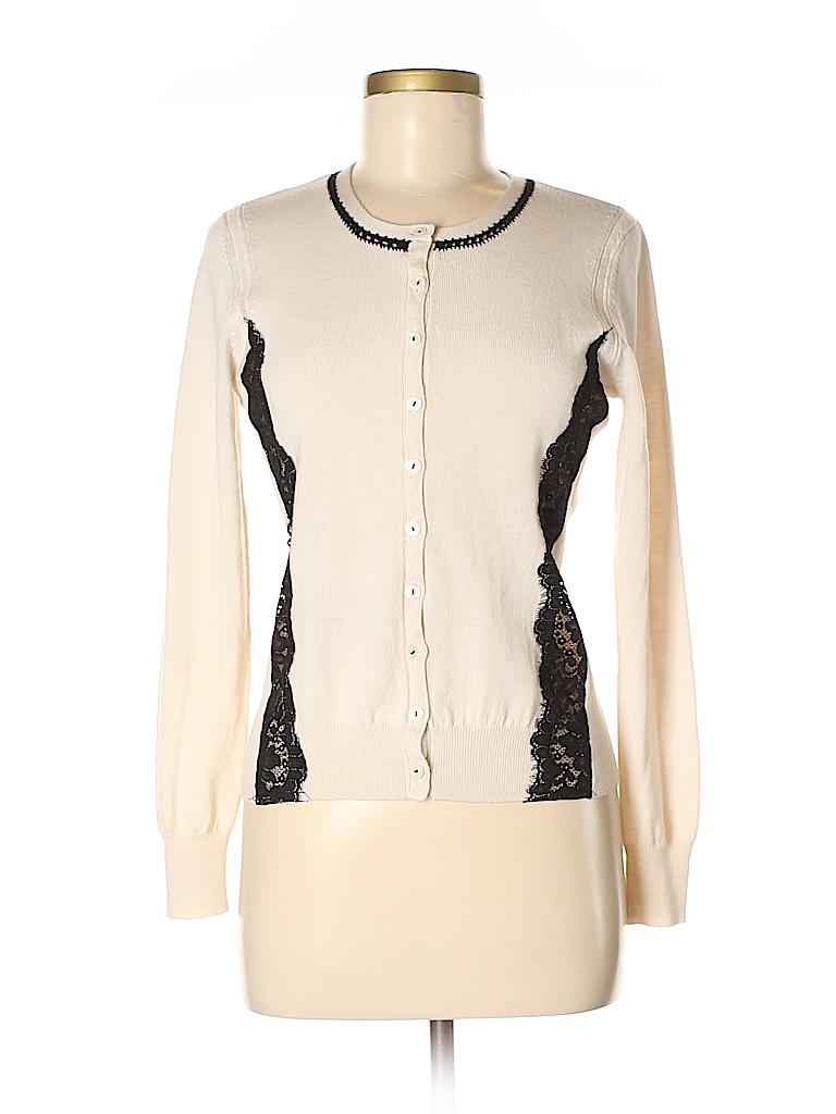 Nanette Lepore Women Wool Cardigan Size M