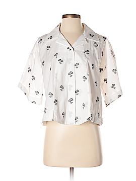 Victoria Beckham Short Sleeve Button-Down Shirt Size 6