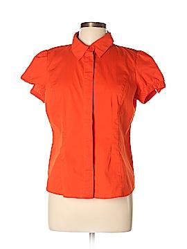 Worthington Short Sleeve Button-Down Shirt Size L (Petite)