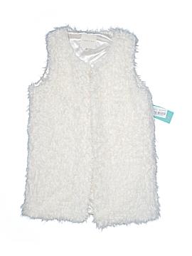 Copper Key Faux Fur Vest Size 10 - 12