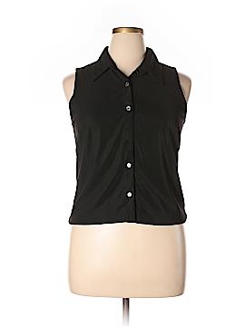 Willi Smith Sleeveless Button-Down Shirt Size XL