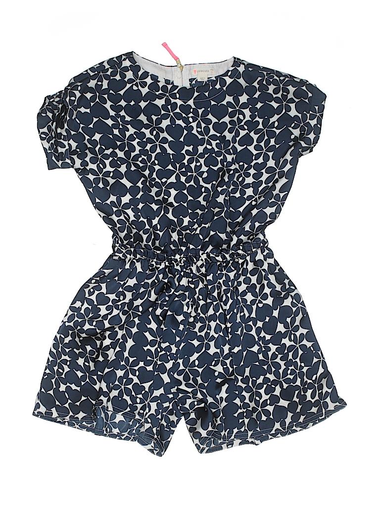 555e80496b4 Crewcuts 100% Polyester Floral Hearts Dark Blue Romper Size 8 - 59 ...