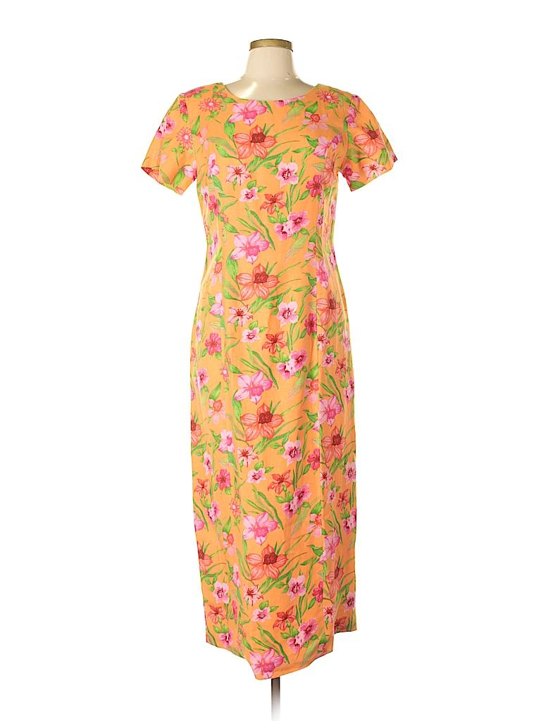 fc4e938771c Chadwicks Floral Orange Casual Dress Size 10 - 50% off