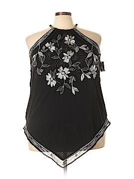 Alfani Sleeveless Button-Down Shirt Size 2X (Plus)