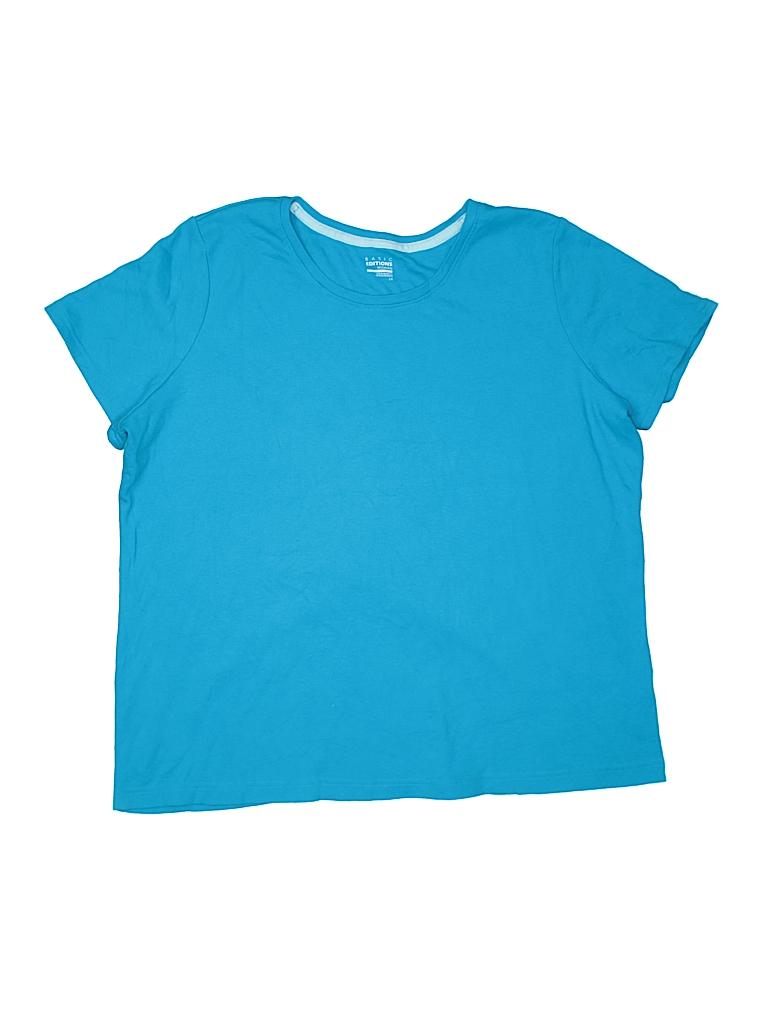 Basic Editions Women Short Sleeve T-Shirt Size 1X (Plus)