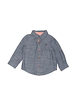 Cat & Jack Long Sleeve Button-Down Shirt Size 6-9 mo