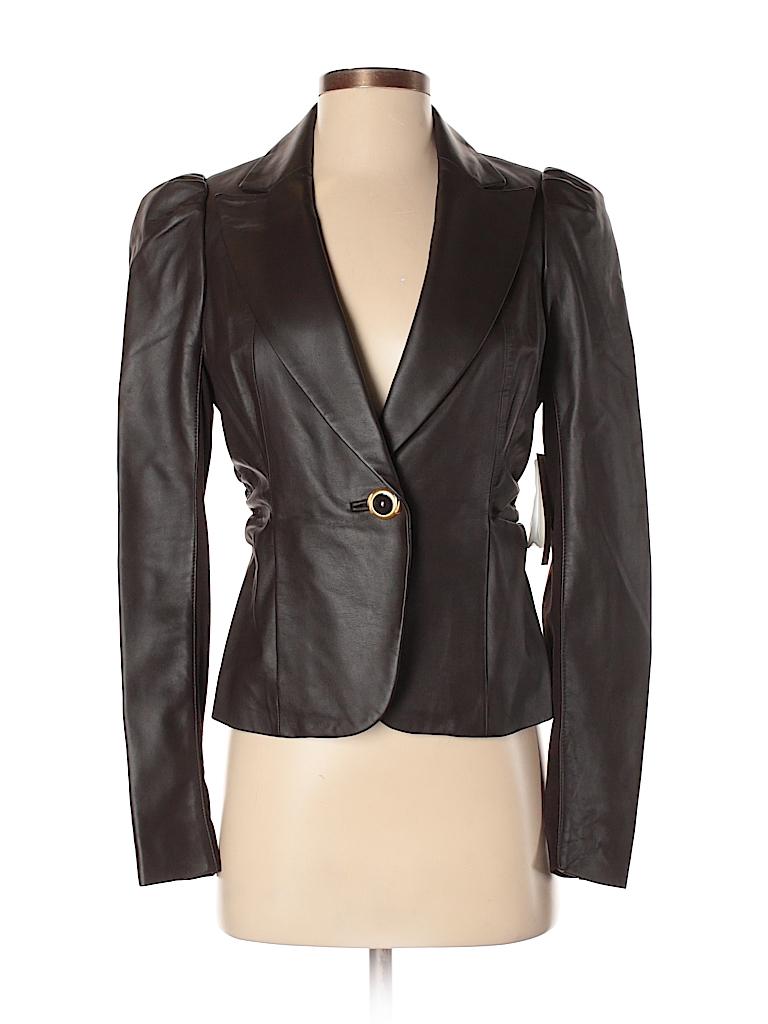 Leifsdottir Women Leather Jacket Size 4
