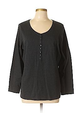Ambrielle Long Sleeve Henley Size XL