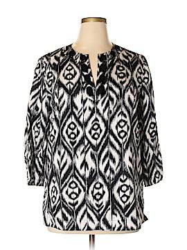 Jones New York 3/4 Sleeve Blouse Size XL