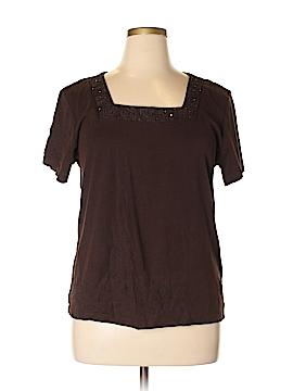 Karen Scott Short Sleeve Top Size XL