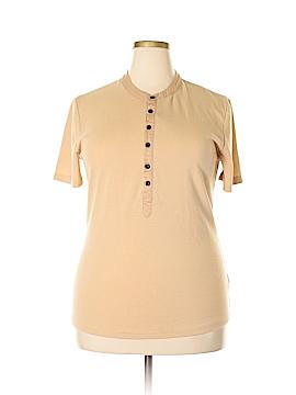 Doublju Short Sleeve Henley Size XL