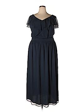 Yellow Star Cocktail Dress Size 1X (Plus)