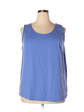 Roaman's Sleeveless T-Shirt Size 24 (Plus)
