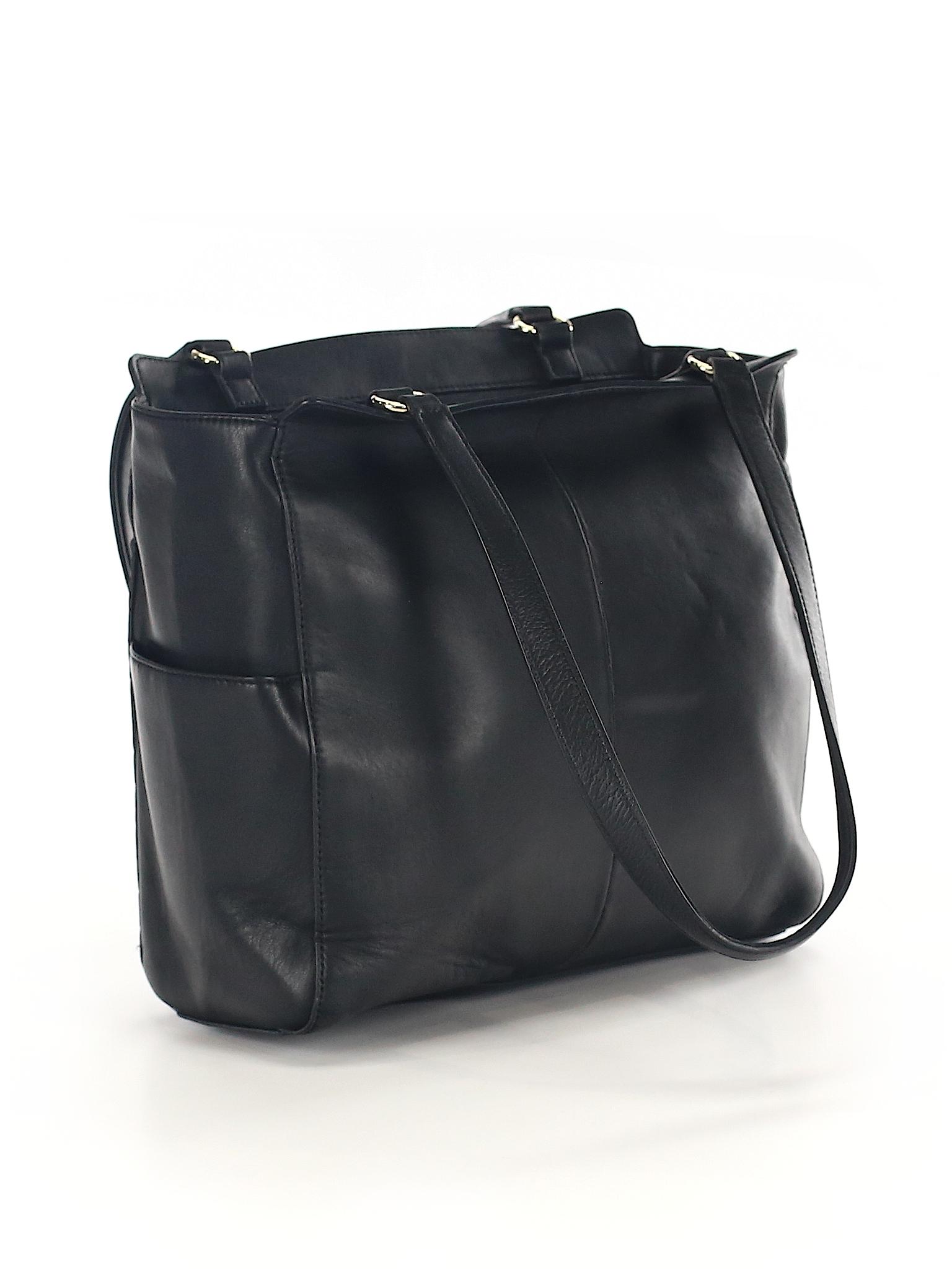 1e2f2eaefba3d0 Karl Lagerfeld Paris 100% Leather Chevron Herringbone Black Leather ...