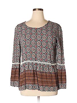 En Creme Long Sleeve Blouse Size 1X (Plus)