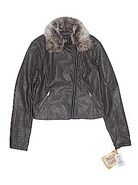 Kohl's Women Faux Leather Jacket Size L