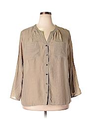 Elementz Women 3/4 Sleeve Blouse Size 2X (Plus)