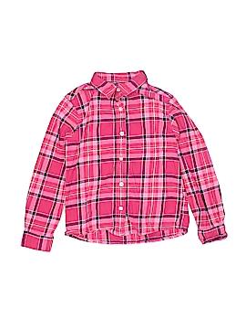 Lands' End Long Sleeve Button-Down Shirt Size 5