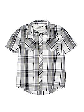 Helix Short Sleeve Button-Down Shirt Size M (Kids)