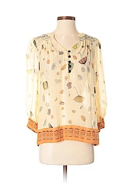 Floreat Long Sleeve Silk Top Size 0