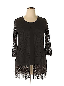 JM Collection 3/4 Sleeve Top Size L (Petite)