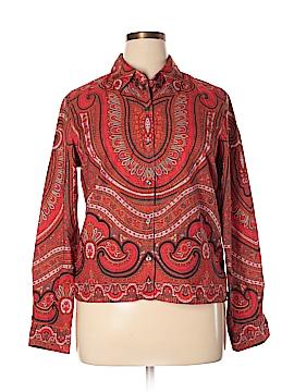 Isaac Mizrahi Long Sleeve Button-Down Shirt Size XL