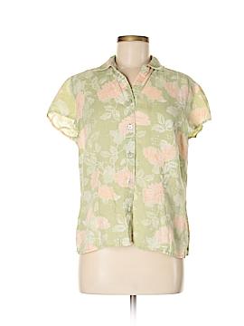 So Blue Sigrid Olsen Short Sleeve Button-Down Shirt Size L