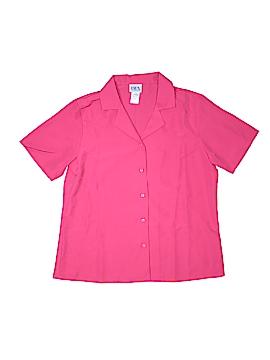 BFA Classics Short Sleeve Button-Down Shirt Size 10