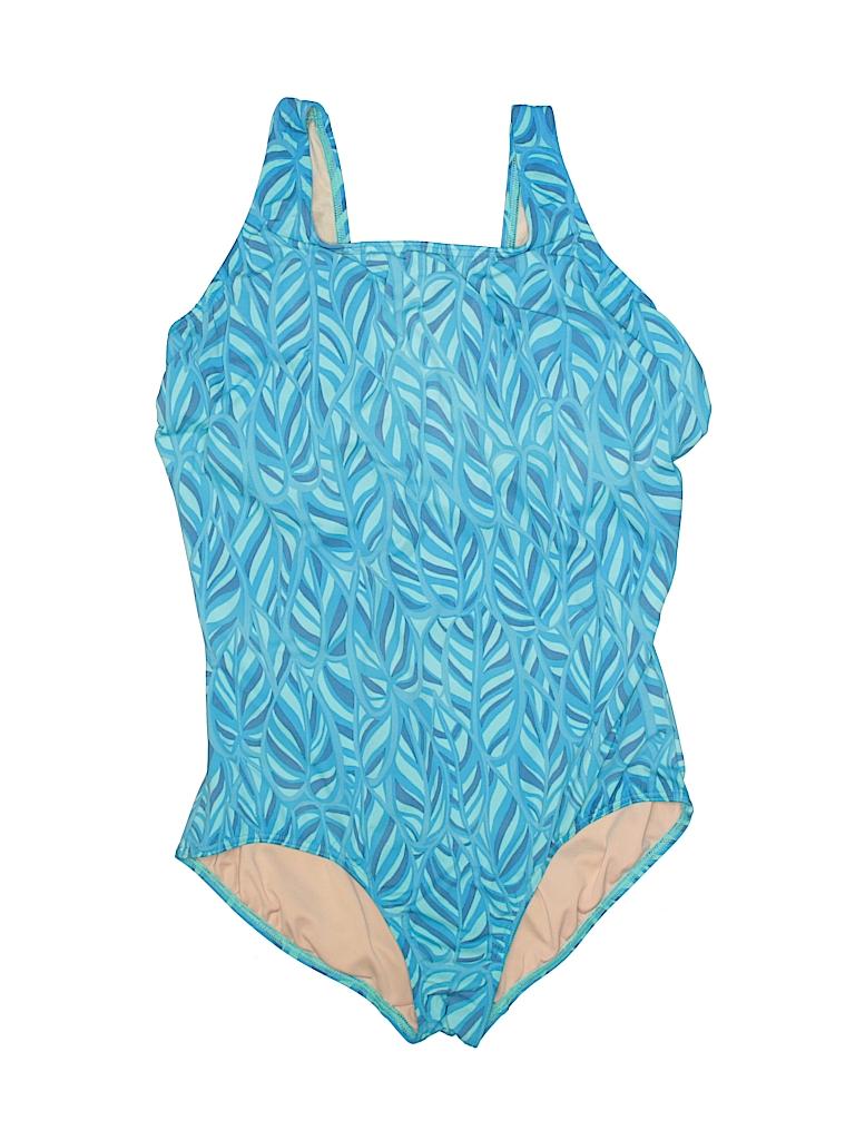 0d2ce645ad5 Lands' End Print Blue One Piece Swimsuit Size 18 (Plus) - 60% off ...