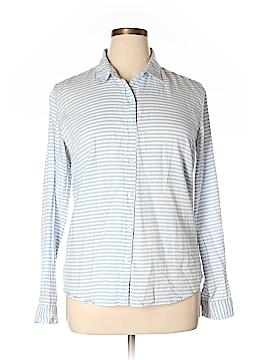 Garnet Hill Long Sleeve Button-Down Shirt Size 14