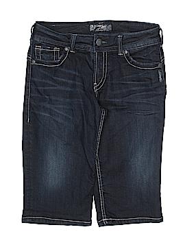 Silver Denim Shorts 29 Waist
