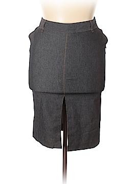 Zara Basic Denim Skirt Size 10
