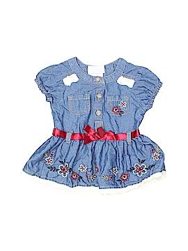 Little Lass Short Sleeve Blouse Size 6-9 mo