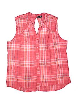 Jane Ashley Sleeveless Button-Down Shirt Size 2X (Plus)