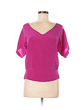 MYNE Short Sleeve Silk Top Size M