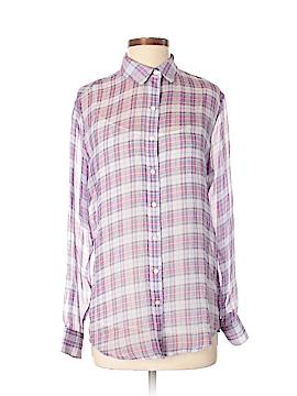 J. McLaughlin Long Sleeve Silk Top Size S