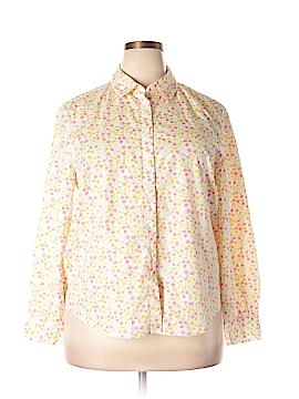 Appleseeds Long Sleeve Button-Down Shirt Size 20 (Plus)
