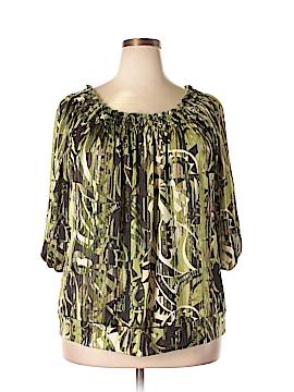 Claudia Richard 3/4 Sleeve Top Size 3X (Plus)
