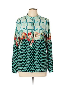 ETRO Long Sleeve Silk Top Size 46 (IT)
