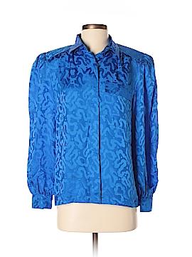 Argenti Long Sleeve Silk Top Size 8