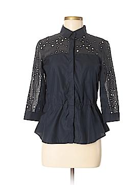 Akris punto 3/4 Sleeve Button-Down Shirt Size 6