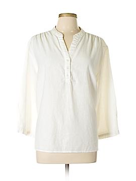 Willi Smith 3/4 Sleeve Button-Down Shirt Size 1X (Plus)