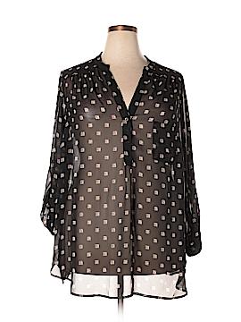 Pleione Long Sleeve Blouse Size 2X (Plus)
