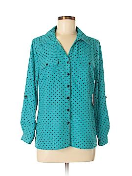 Kim Rogers Long Sleeve Blouse Size L (Petite)
