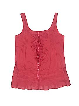 Eliane et Lena Sleeveless Button-Down Shirt Size 10