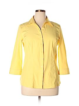 Como 3/4 Sleeve Button-Down Shirt Size XL