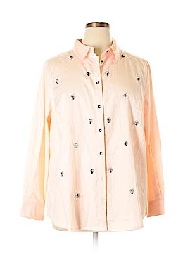Denim 24/7 Long Sleeve Button-Down Shirt Size 20 (Plus)