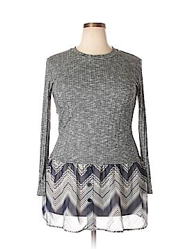 J Mode USA Long Sleeve Top Size 2XL (Plus)