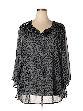 Signature 3/4 Sleeve Blouse Size 1X (Plus)