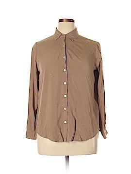 Umgee Long Sleeve Button-Down Shirt Size L